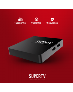 SUPERTV RED EDITION - 4K Wifi IPTV Android Receptor Via Internet