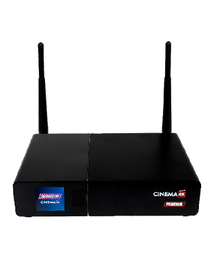 Receptor Phantom Cinema 4K - ACM Wifi Android IPTV