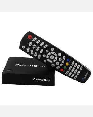 Receptor Audiosat R8 - IPTV 4k Android via Internet